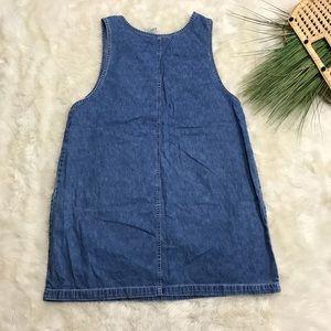 Faded Glory Dresses - Faded Glory Denim Overalls Dress Sleeveless XL